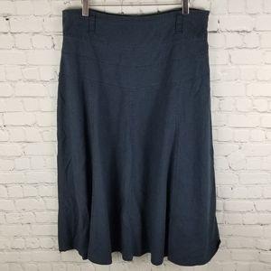 BEXLEYS   linen blend midi skirt